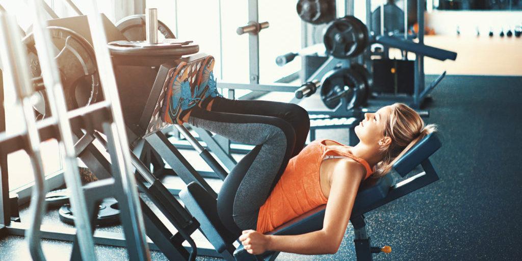 Leg press exercise.